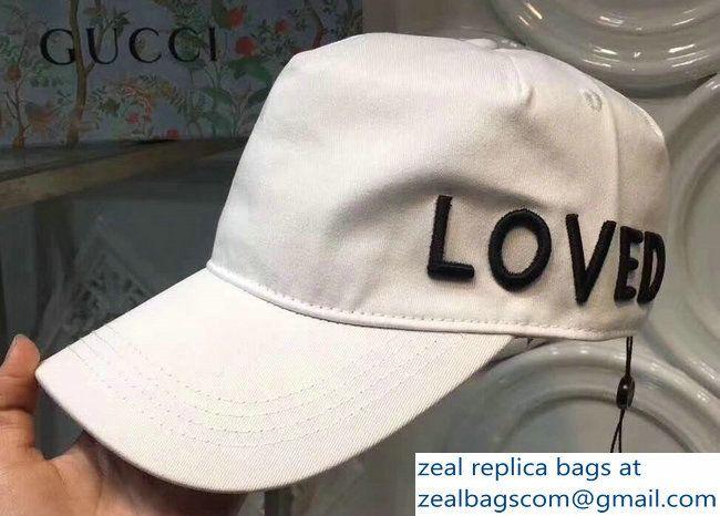 Gucci Loved White Baseball Hat Cap 2018  35d74daff7e