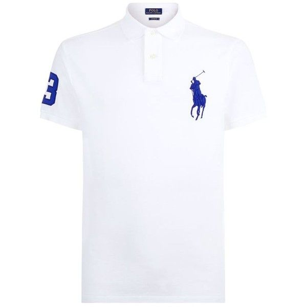 Polo Ralph Lauren Giant Pony Custom Fit Polo Shirt ($130) ❤ liked on  Polyvore featuring men's fashion, men's clothing, men's shirts, men's  polos, ...