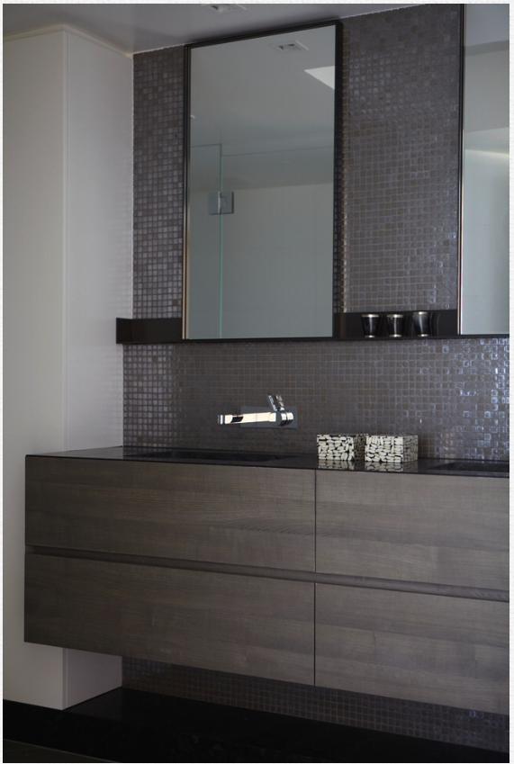 timber veneer cabinetry  badezimmer zimmer baden