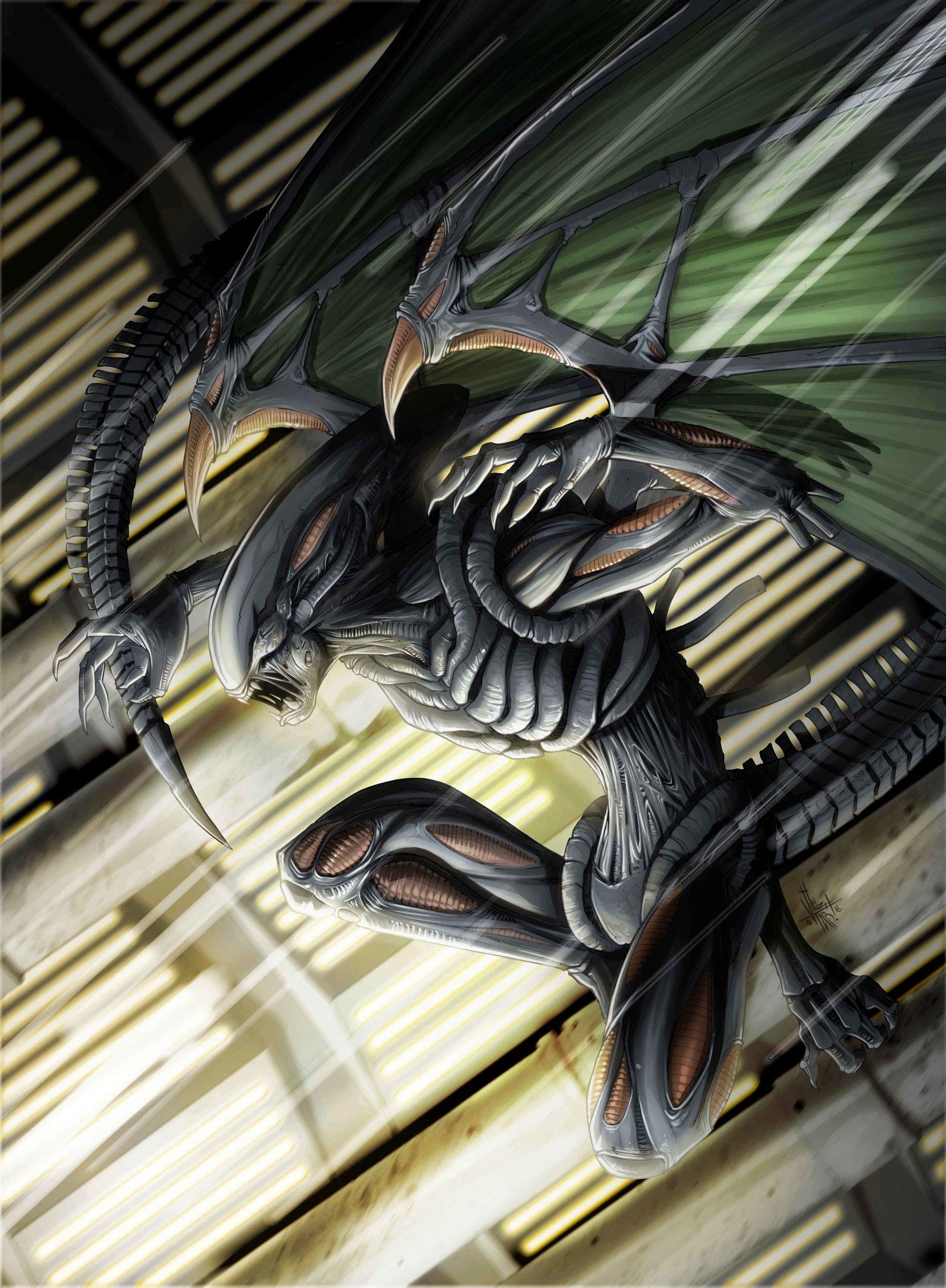 Illustration for BOARD Game Alien legendary encounters. Copyright UPPERDECK & Fox .