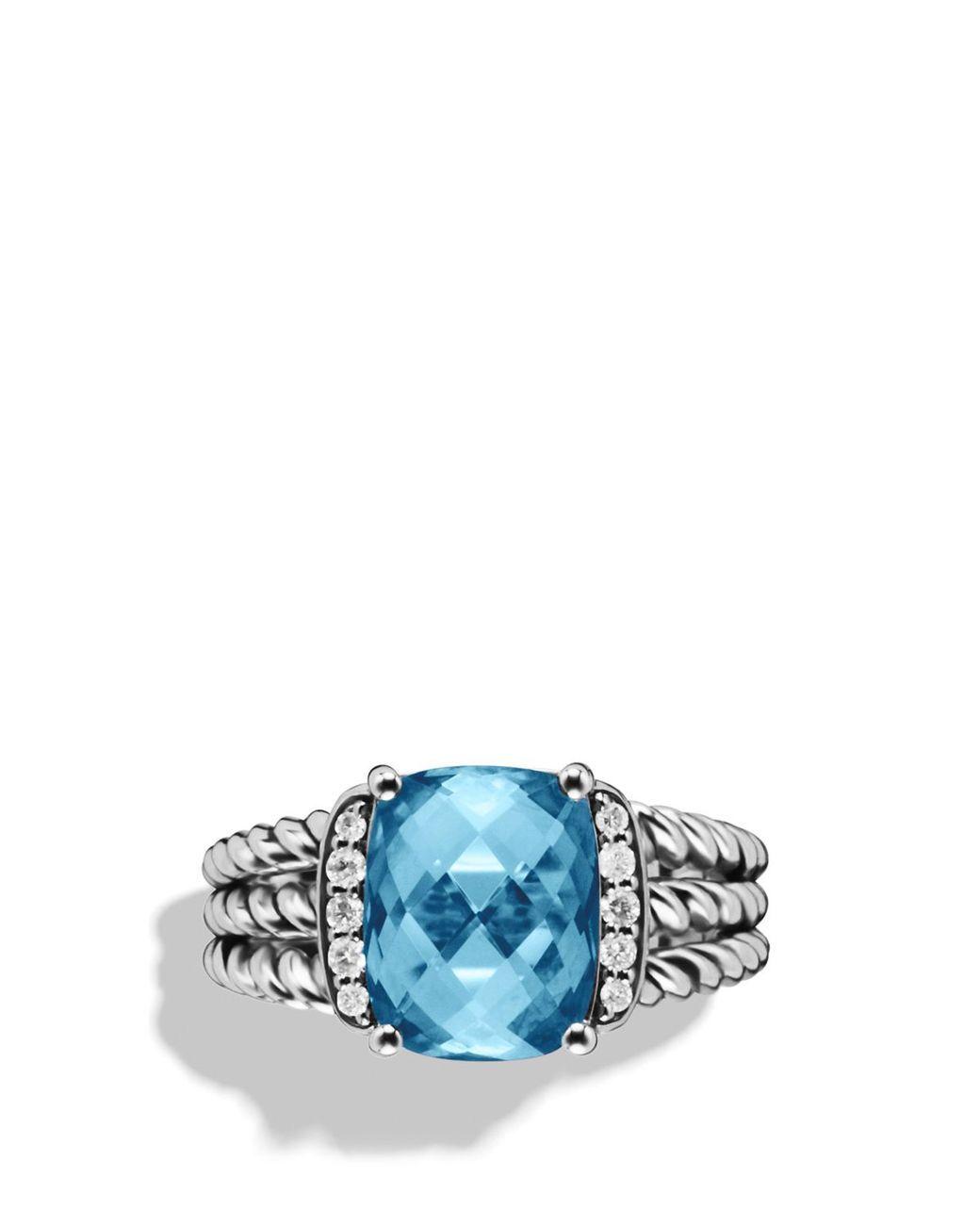 7c7085ebf7f1b Women's Petite Wheaton Ring With Hampton Blue Topaz And Diamonds ...