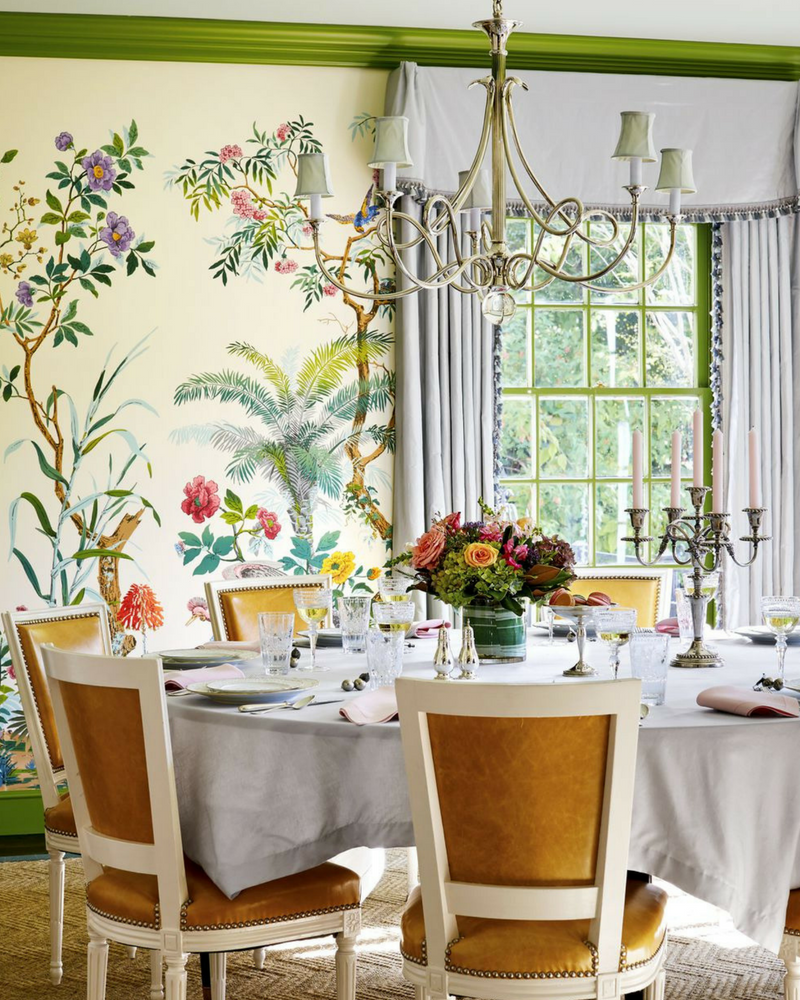 Want to redo your dining room decoration but don   know where start wallpapers art lighting and furniture are the first things you need get also rh pinterest