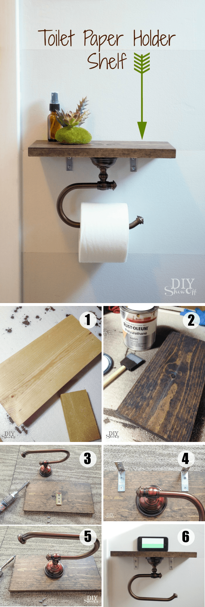 Totally Unusual DIY Toilet Paper Holders Paper Holders - Bathroom towel bars and toilet paper holders for bathroom decor ideas
