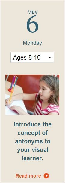 Find out how drawing words can help to teach your child about antonyms. Learn more in today's tip.