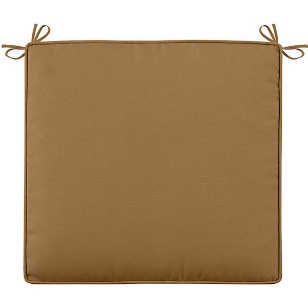 "Improvements Sunbrella Patio Seat Cushion (Box) 19""x18""x4"" - Wheat (€36) ❤ liked on Polyvore featuring home, outdoors, outdoor decor, outdoor garden decor, patio decor, golden box and outdoor patio decor"