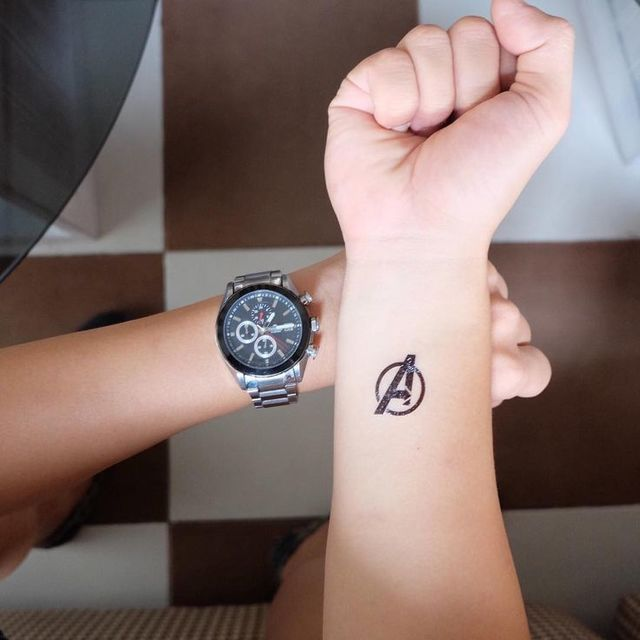 37 Small Tattoo Ideas For Big Avengers Nerds