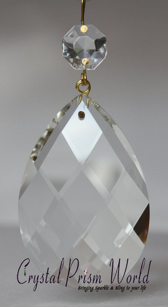 Clear Almond Teardrop Replacement Chandelier Glass Crystals - Waterford chandelier replacement crystals