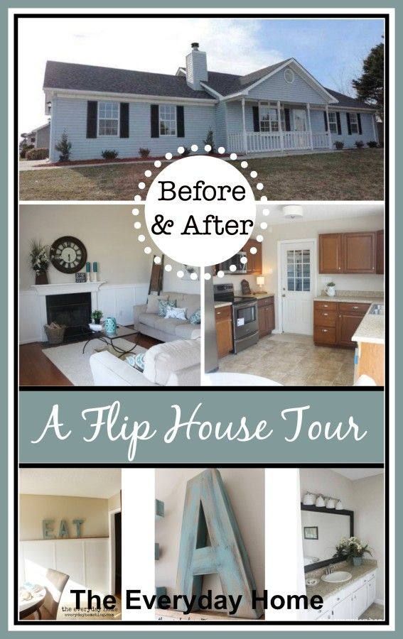 Before And After A Flip House Tour The Everyday Home Www Everydayhomeblog Com House Tours Flipping Houses House