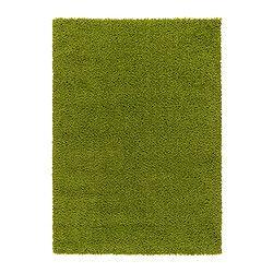 Hampen alfombra pelo largo verde vivo la goma dulce for Alfombra verde ikea