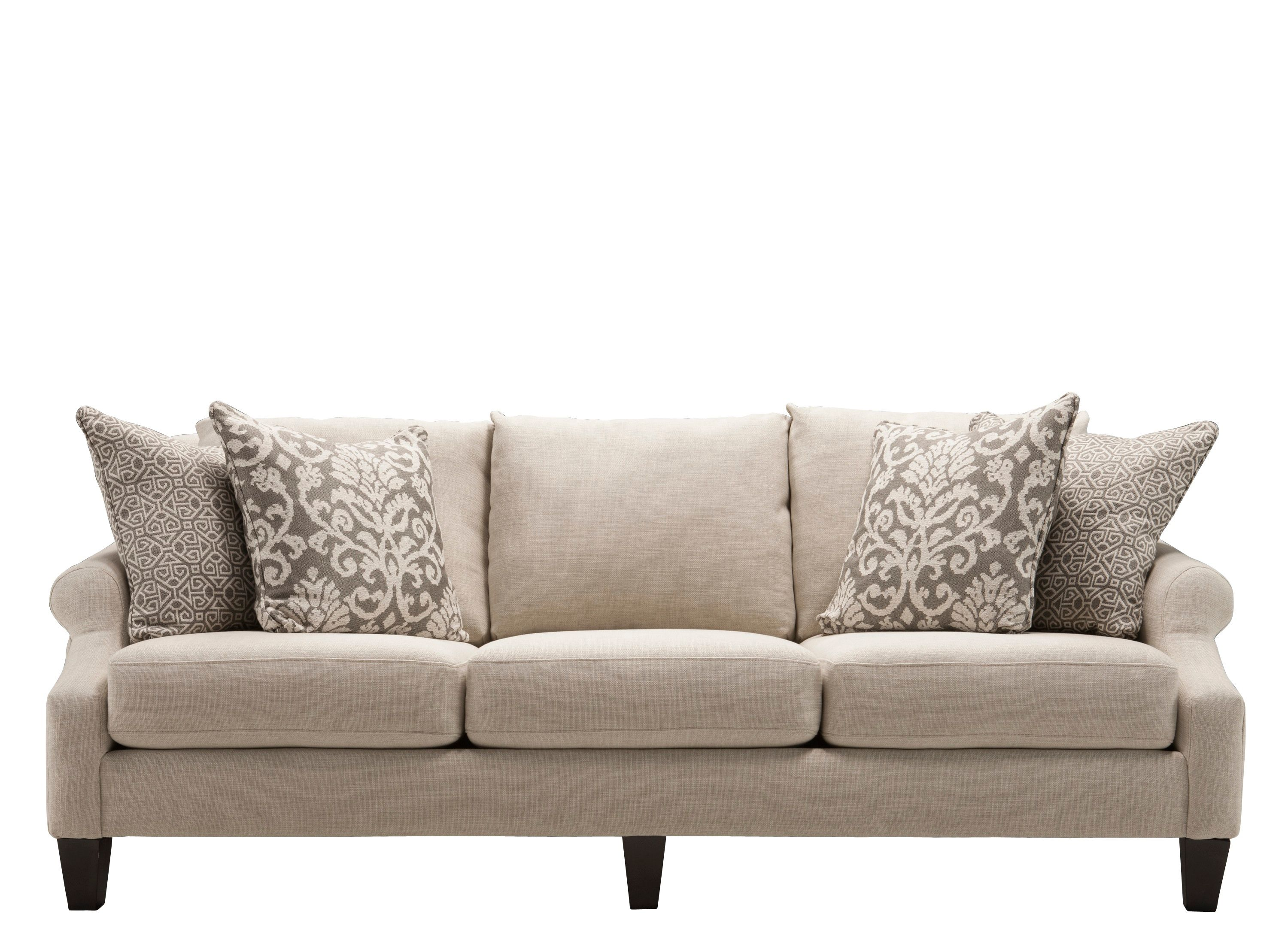 Classic and contemporary elements abound in this Tatiana chenille sofa. - $899.95; 90 inches wide, 38 h