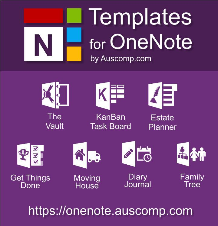 Medley Of Free Templates For Ms Onenote The Vault Kanban Task Board Estate Planner Intranet Extranet Mov Onenote Template One Note Microsoft Kanban Board