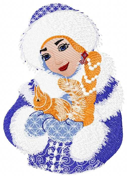 Snow Maiden Free Embroidery Design 5 Christmas Free Embroidery