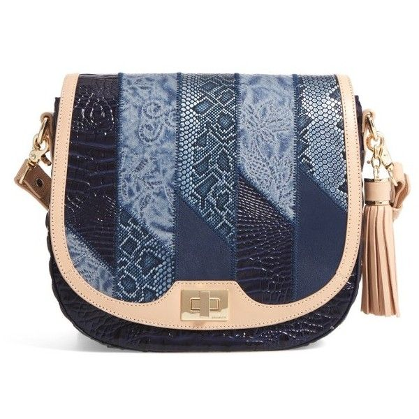 Women S Brahmin Sonny Crossbody Bag 345 Liked On Polyvore Featuring Bags Handbags Shoulder Denim Velazquez Purses Blue