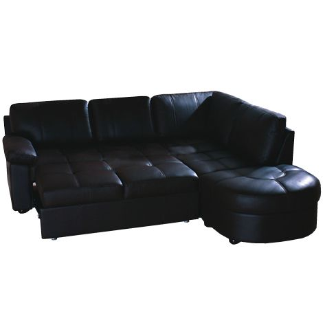 Lina Corner Sofa 3 Seater Pull Out Bed Left Hand Chaise Leather 5055529138616 Ebay Corner Sofa Pull Out Bed Sofa