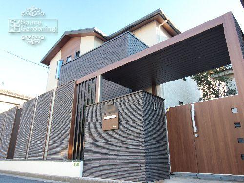 庭 外構施工例 詳細 玄関 エクステリア リフォーム 外構 玄関