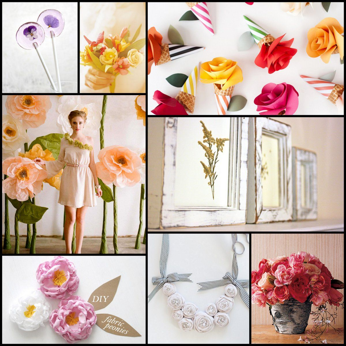 Creative Flower Power Guest Floral Diy Tutorial Round Up Paper