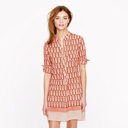 Nili Lotan For J.Crew Beach Dress In Wood-Block Print