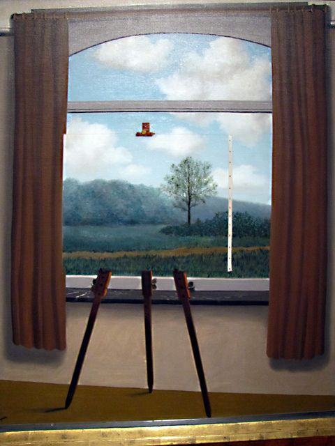 """""""The Human Condition I"""" by Rene Magritte (the relationship between the mind and reality)"""