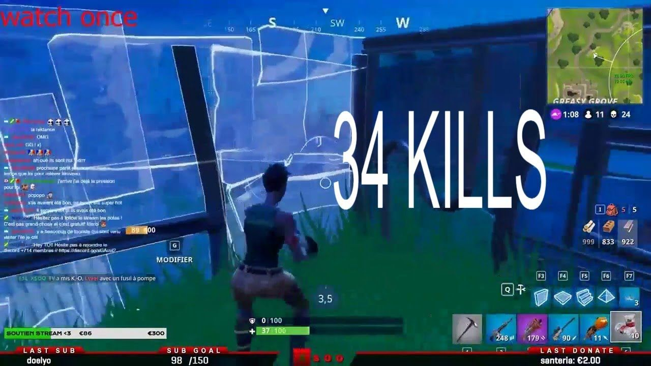 Solo Vs Squad World Record 34 Kills Win Fortnite Fr1 Game Games