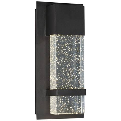 maxim cascade 13 3 4 h black large led outdoor wall light outdoor