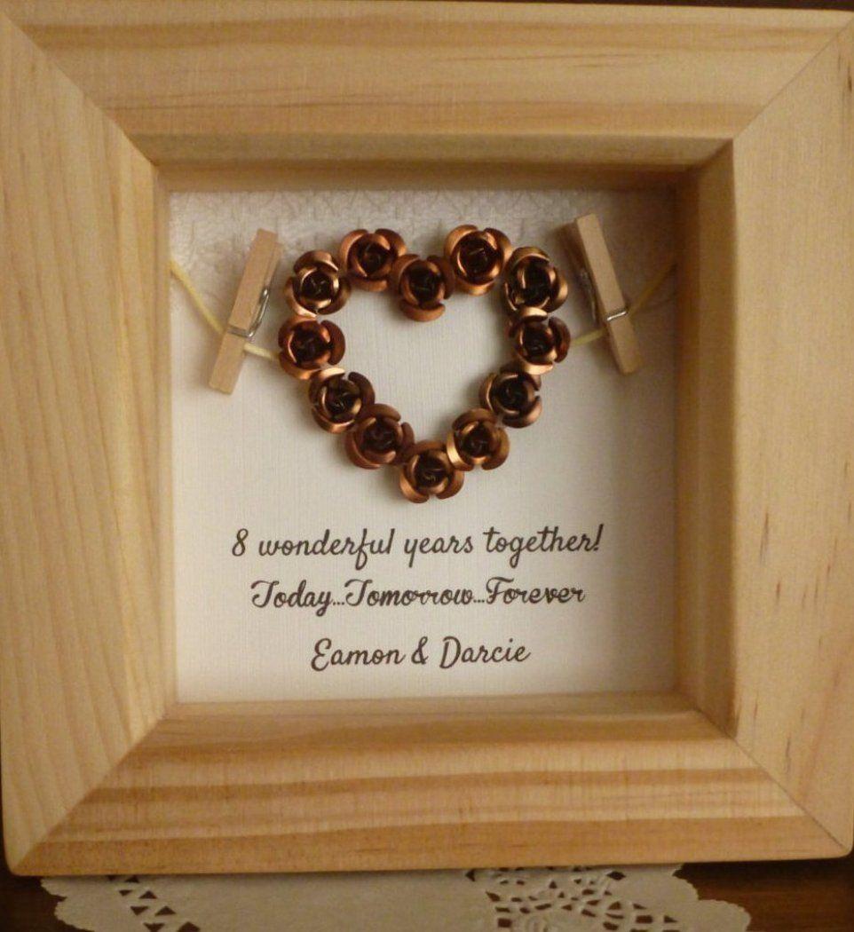 8th bronze anniversary gift 8th wedding anniversary gift