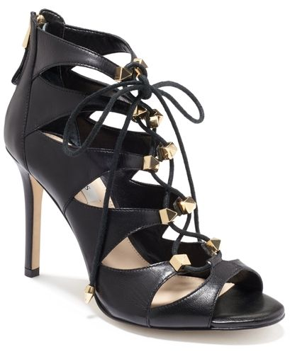GUESS Legari Studded Lace Up Dress Sandals Women's Shoes from Macy's on shop.CatalogSpree.com, your personal digital mall.
