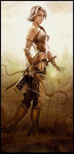 Amazing Fantasy Warrior Women Art