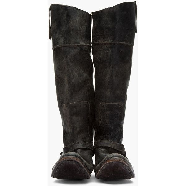 Golden Goose Leather Round-Toe Knee-High Boots