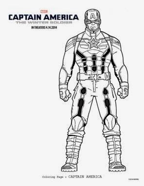 FREE Captain America: The Winter Soldier Coloring Sheets | Pinterest ...