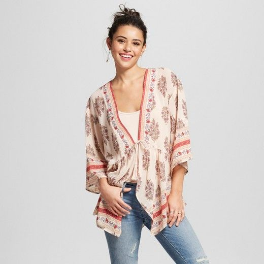 Xhilaration Plus Size Cream Lace Embroidered Top