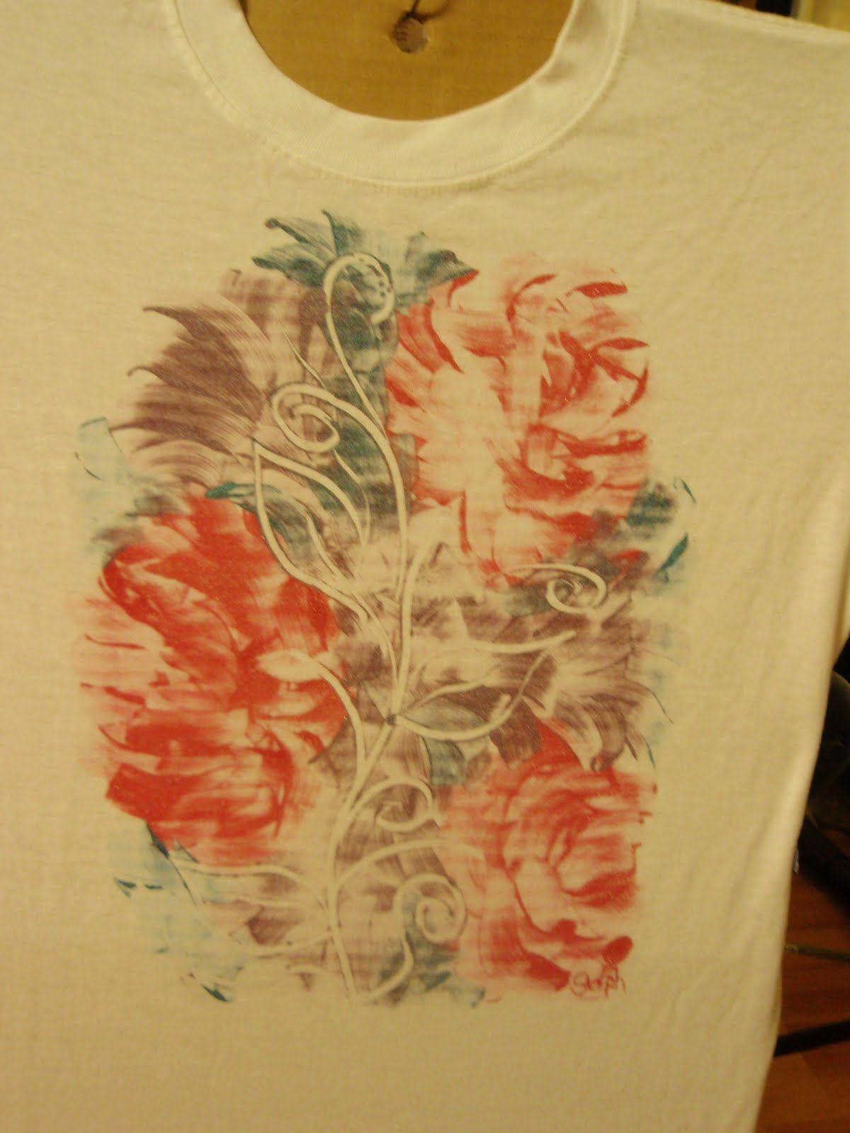 Shirt design with fabric paint - T Shirt Design Ideas With Fabric Paintstephs Paint