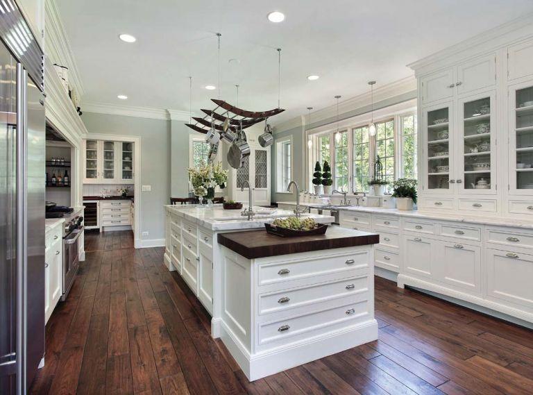 Braxton McKenzie used wide-plank walnut flooring from Emerson