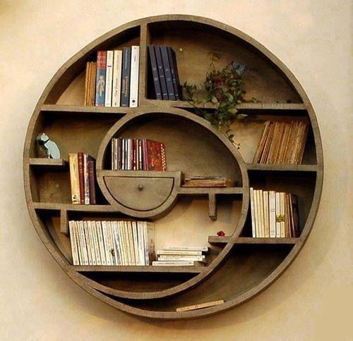 Libreria circolare aspirale in legno oggetti design idee for Oggetti di arredamento