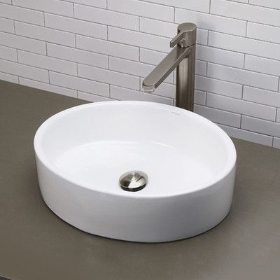 Decolav Classically Redefined Oval Vessel Bathroom Sink & Reviews Amazing Wayfair Bathroom Sinks Decorating Inspiration