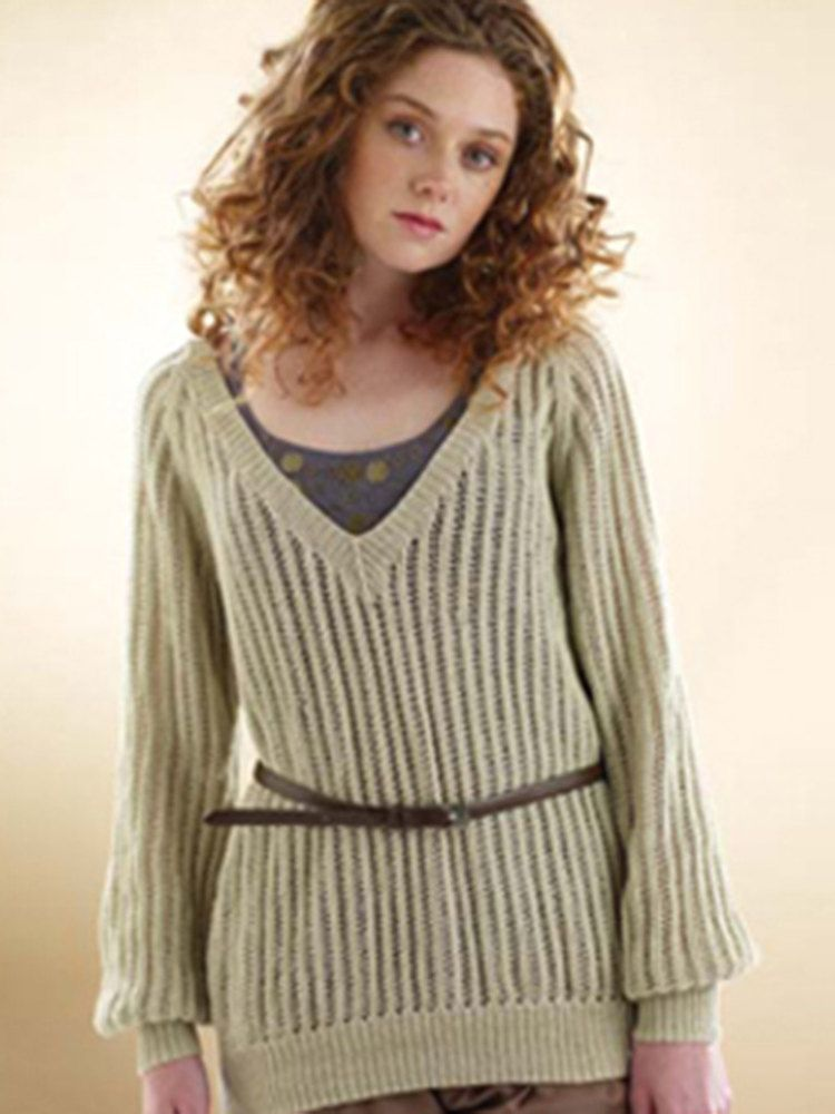 Rowan Slouchy Lace Sweater in Rowan Wool Cotton 4 Ply. Discover ...
