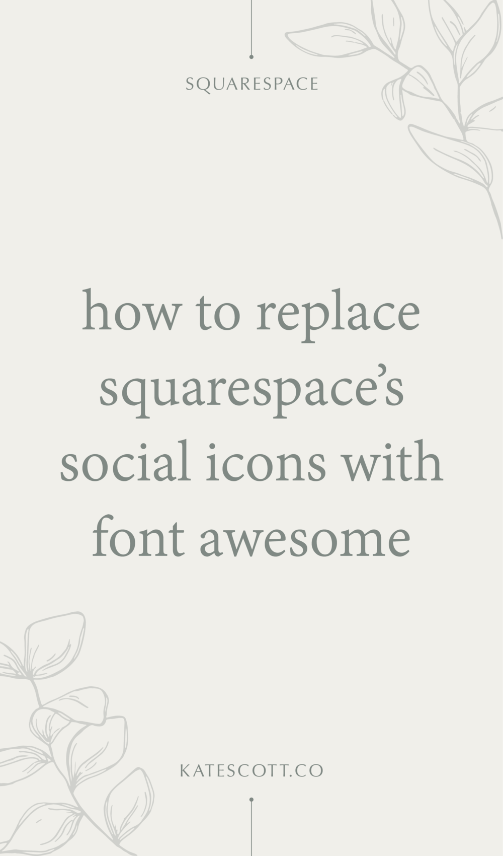How to Replace Squarespace's Social Icons with FontAwesome