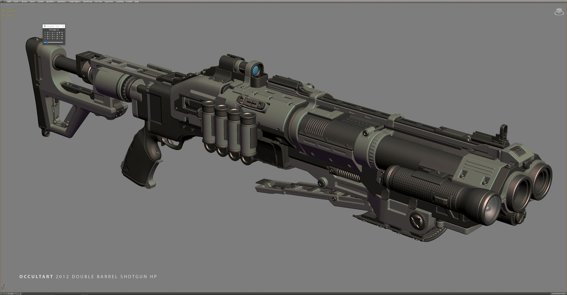 ArtStation - Double Barrel Shotgun HP, OccultArt ...