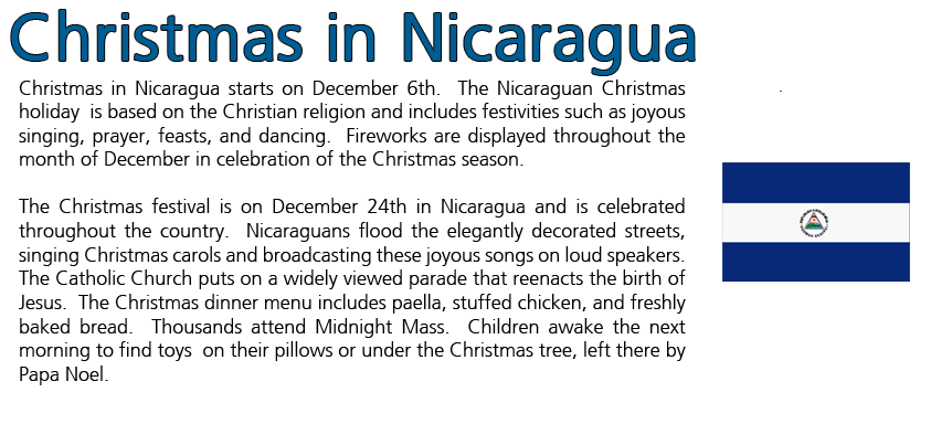 Holidays around the world christmas in nicaragua useful info holidays around the world christmas in nicaragua fandeluxe Gallery