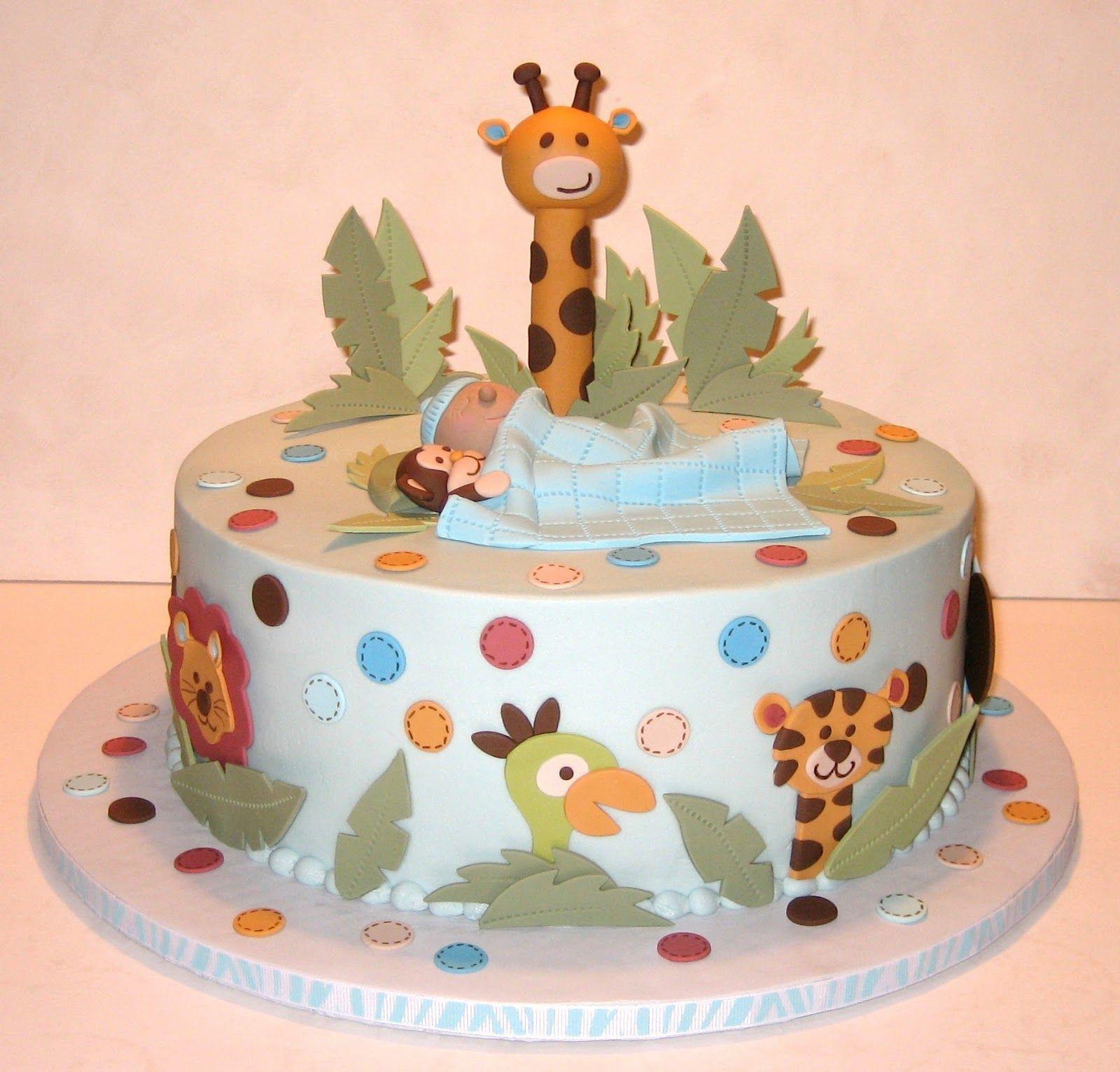 jungle baby boy cake  sweet art    baby shower cakes, Baby shower invitation