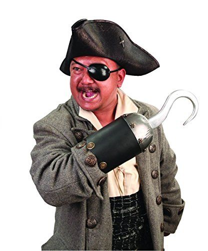 Pirate Hook Metal And Leather Captain Hook Costume Accessory    Click Image  For More Details Affiliate Link.