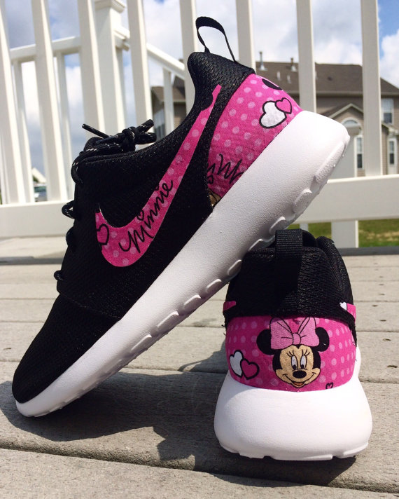 6566aa4393f5 NEW Minnie Mouse Nike Custom Roshe by GrabbKicks on Etsy