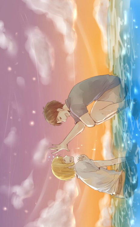 Eren & Armin<<THEY FOUND THE OCEAN.... THE FEEEELLLSSSS