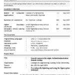 Best Resume Format For Freshers Engineers Krunal Resume Format