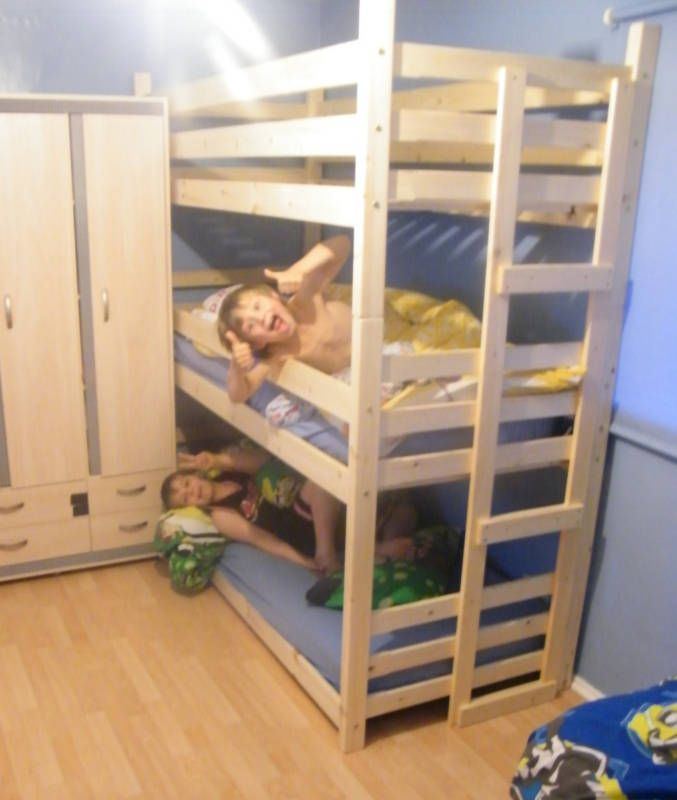 Details About Triple Bunk Beds Tri Bunk Bed 3 High Bunk Beds