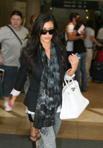Kim Kardashian Leather Tote Handbags Looks Stylebistro