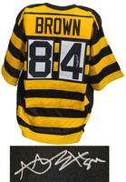 timeless design 613f6 a3fb9 Antonio Brown Signed Black & Gold Bumblebee Custom Football ...