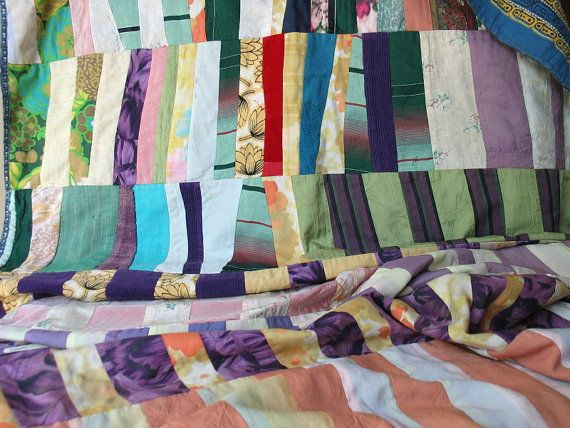 Vintage Scrappy Utility Quilt Fabrics of 1940 to 70.
