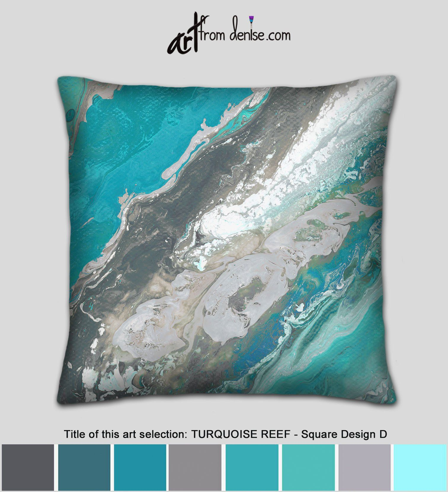 Turquoise decorative pillow cover