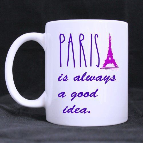 Personalized Paris is always a good idea Classics Saying Custom Photo Mugs *** Hurry! Check out this great product : Cat mug