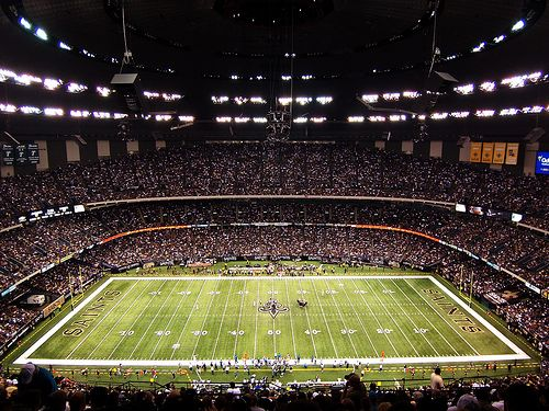 inside the mercedes benz superdome (new orleans, louisana, usa